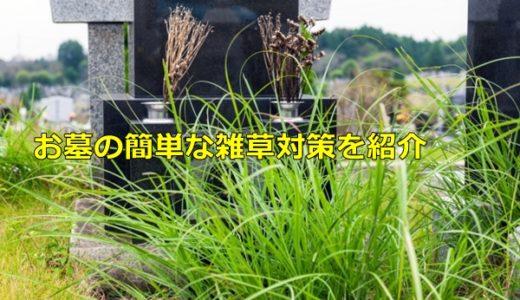 お墓の雑草対策はどうすればいい?簡単で効果的なおすすめな対策を紹介